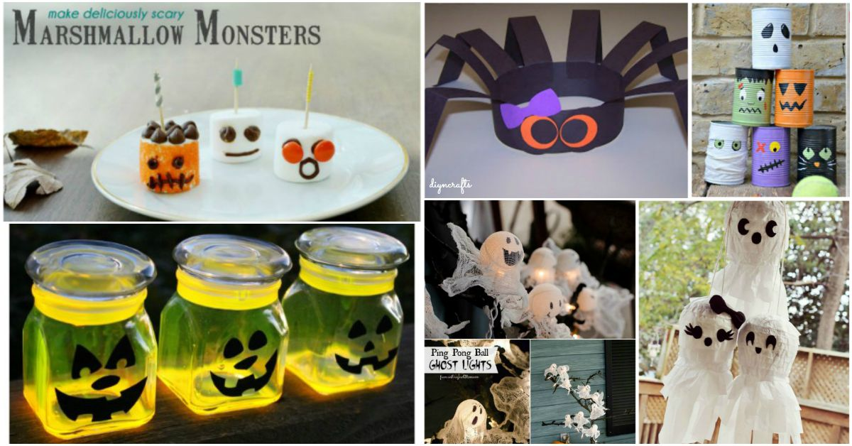31 fun and easy halloween crafts for kids diy crafts for Halloween decorations to make at home for kids