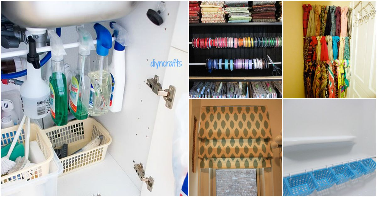 20 Amazingly Clever Ways To Use Tension Rods Around The Home   DIY U0026 Crafts