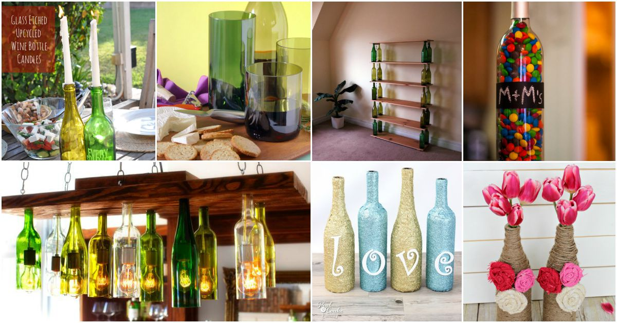 Wine Bottle Crafts Part - 21: 26 Epic Empty Wine Bottle Projects U2013 Donu0027t Throw Them Outu2026 Repurpose  Instead! - DIY U0026 Crafts