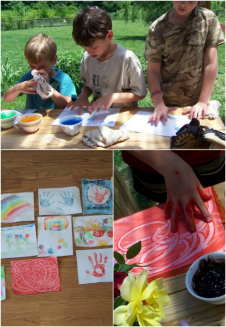Make edible finger paint.