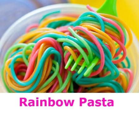Make rainbow pasta.