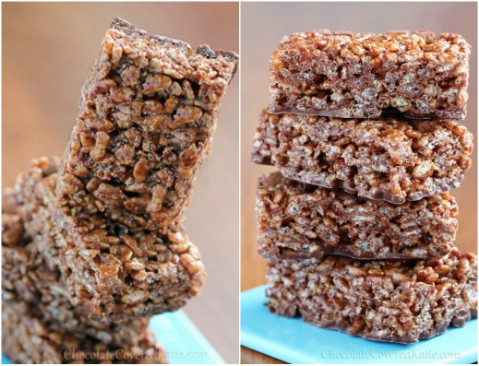Chocolate Nutella Rice Krispie Treats