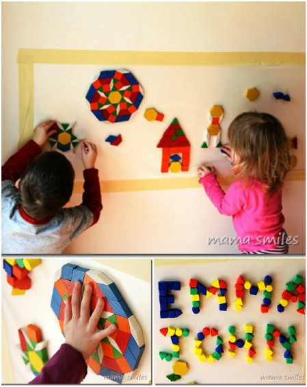 Create mosaics on the wall.