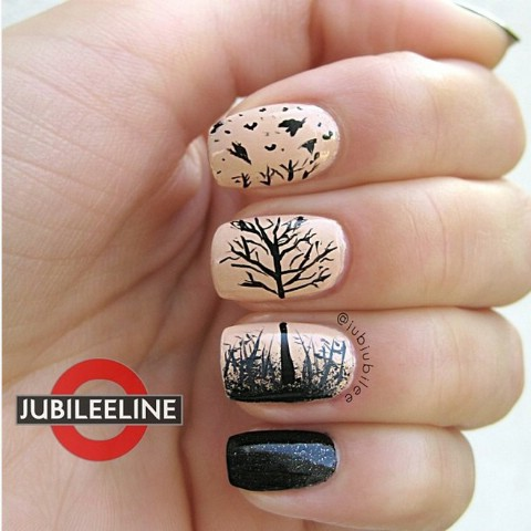 Amazing autumn/winter picture nails
