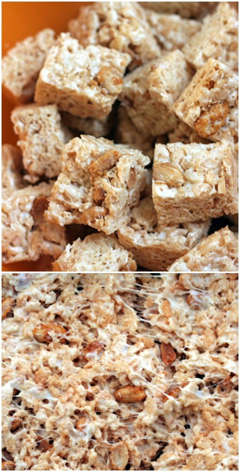 White Chocolate Rice Krispie Treats