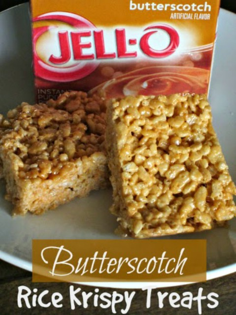 Butterscotch Rice Krispie Bars