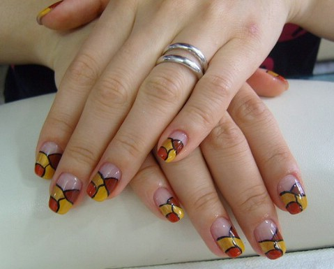 Bold geometric designs - Top 100 Most-Creative Acrylic Nail Art Designs And Tutorials - DIY
