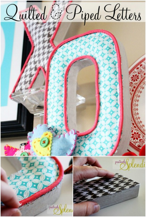 Fabric Scrap Letters