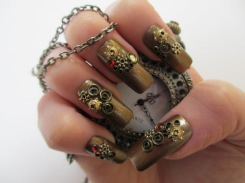 Incredible steampunk nails of wonder