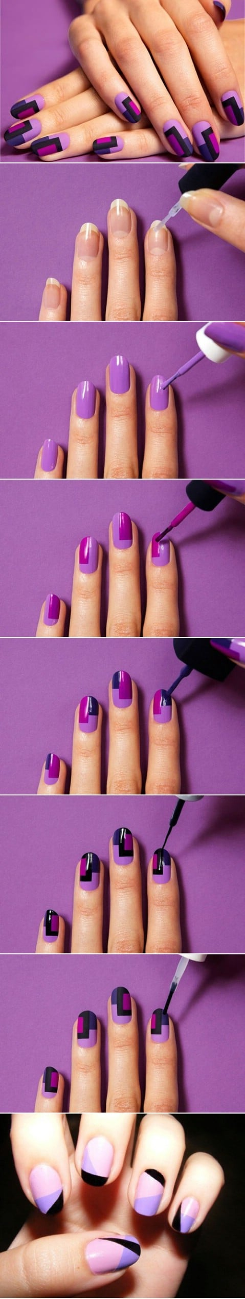 Fabulous geometric nail design