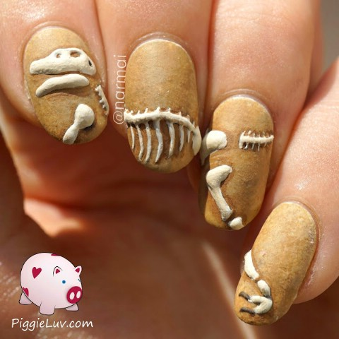 3D dinosaur excavation nails