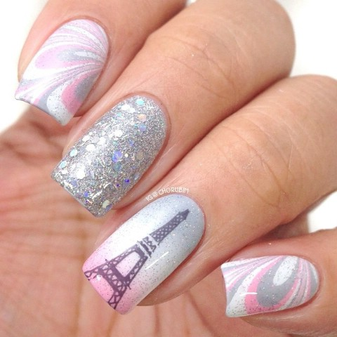 Winter in Paris nails