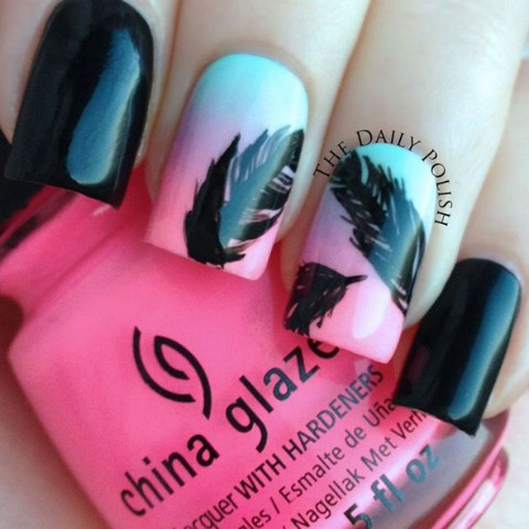 Simple gradient with feathers