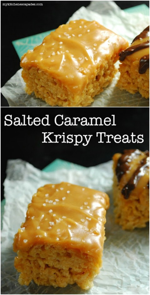 Salted Caramel Rice Krispie Treats