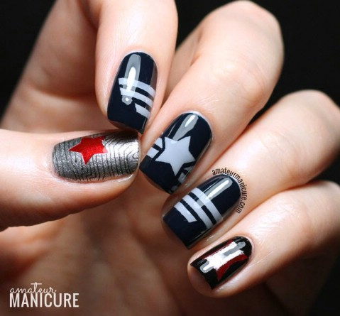 Captain America: The Winter Soldier nail art