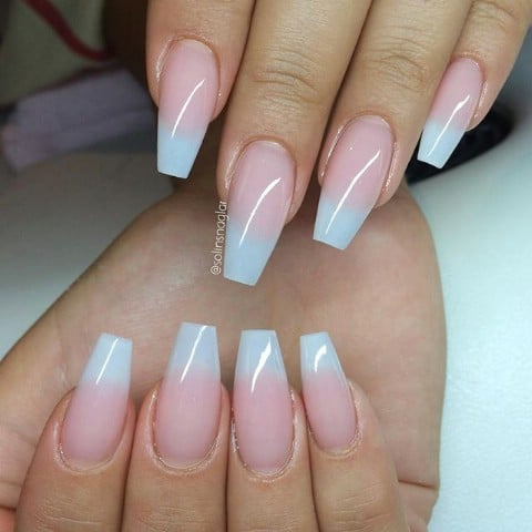 Simple ombre pastel nails