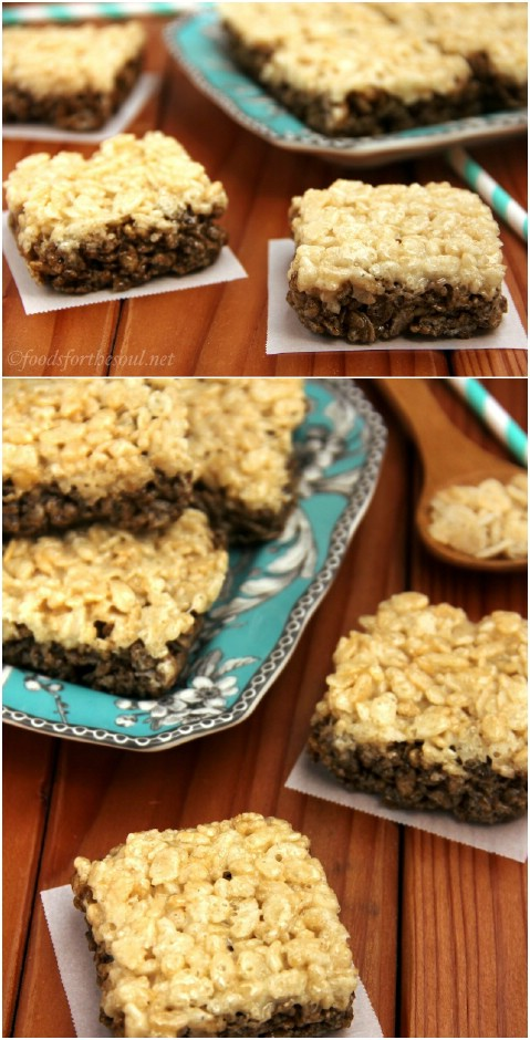 Root Beer Float Rice Krispie Treats
