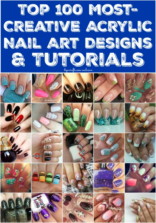 Top 100 most creative acrylic nail art designs and tutorials diy top 100 most creative acrylic nail art designs and tutorials brilliant ideas solutioingenieria Image collections