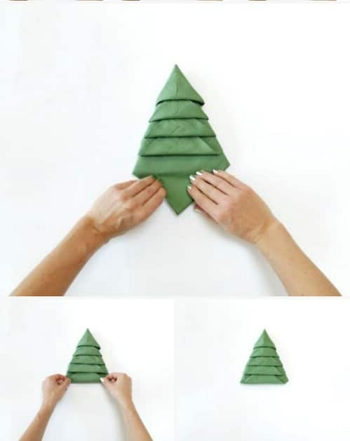 amazing folding technique turns your napkins into christmas trees steps - How To Fold A Napkin Like A Christmas Tree