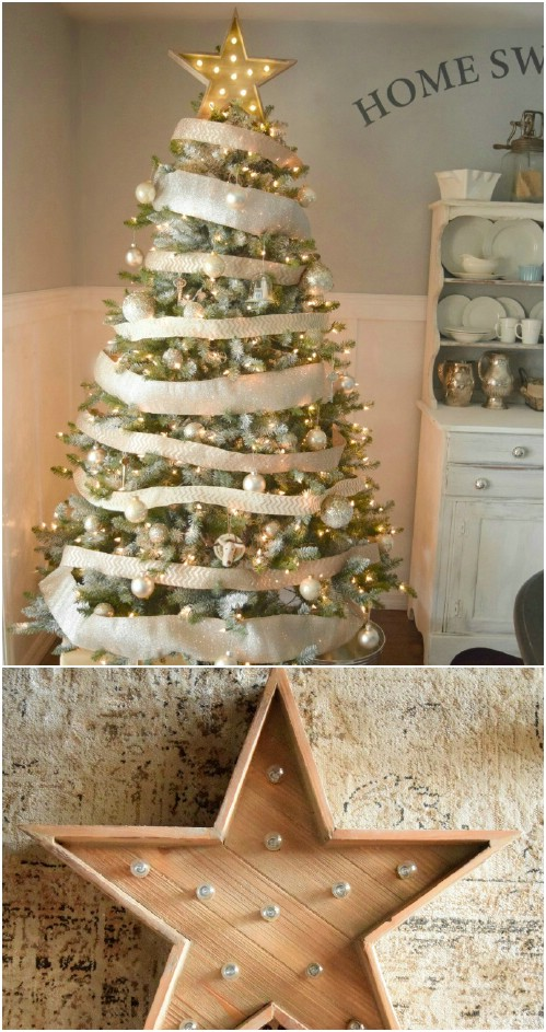 40 rustic christmas decor ideas you can build yourself diy crafts. Black Bedroom Furniture Sets. Home Design Ideas