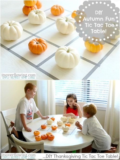 Diy Thanksgiving Decorations Part - 38: Pumpkin Tic Tac Toe