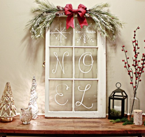 40 rustic christmas decor ideas you can build yourself page 2 of 2 rustic window pane solutioingenieria Images