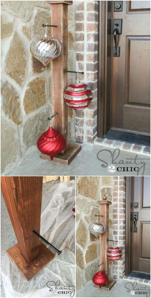 40 rustic christmas decor ideas you can build yourself diy crafts front porch ornament stand solutioingenieria Images