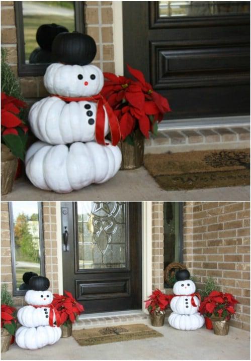 Abóbora do boneco de neve