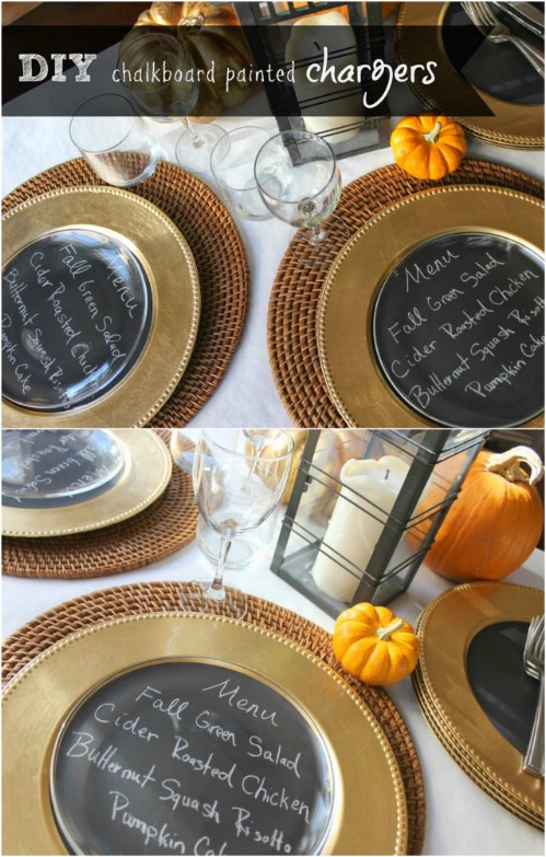 Chalkboard Chargers