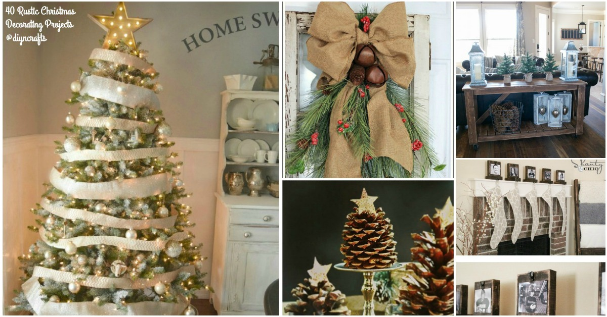 40 rustic christmas decor ideas you can build yourself for Christmas tree decorations you can make at home