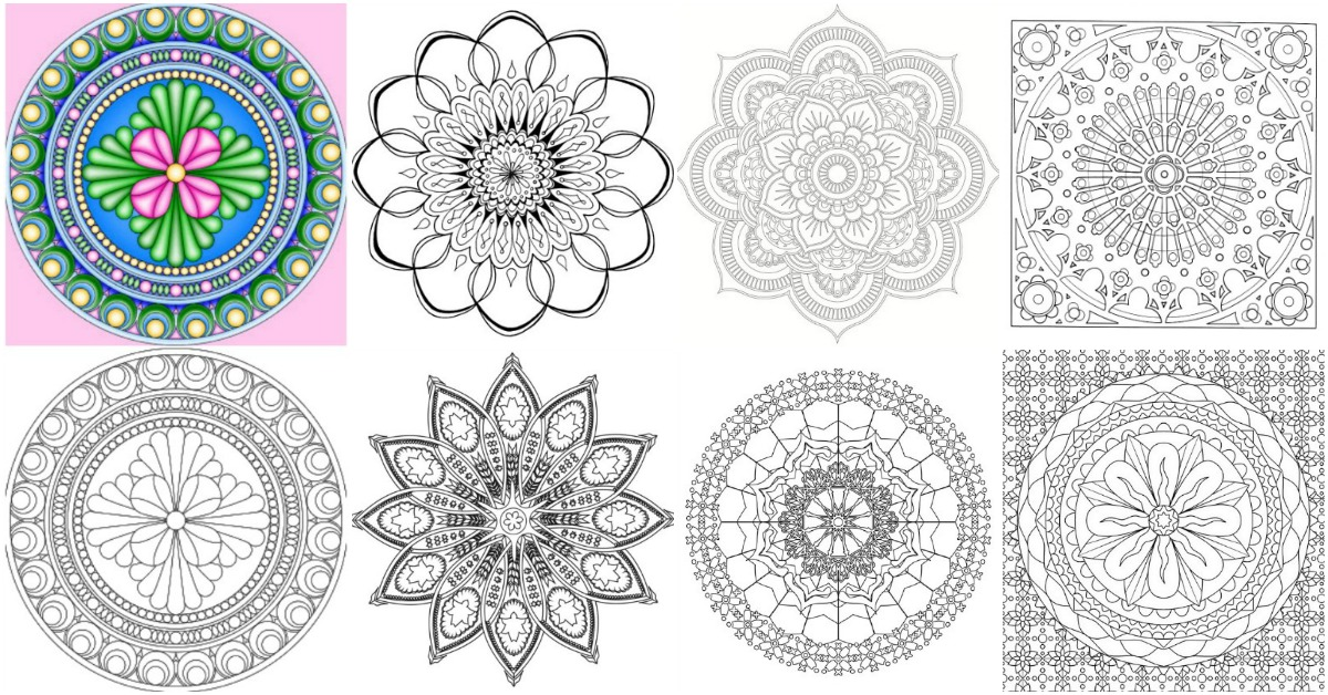 15 Amazingly Relaxing Free Printable Mandala Coloring Pages For