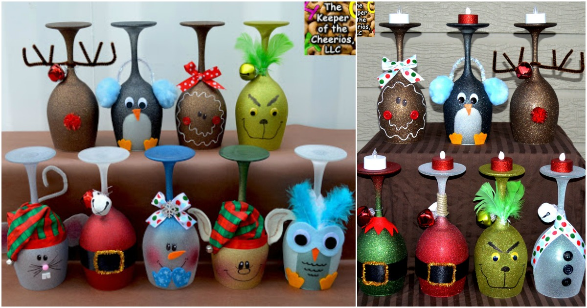 5 Cute And Clever Painting Ideas To Christmas Ify Your Wine Glasses