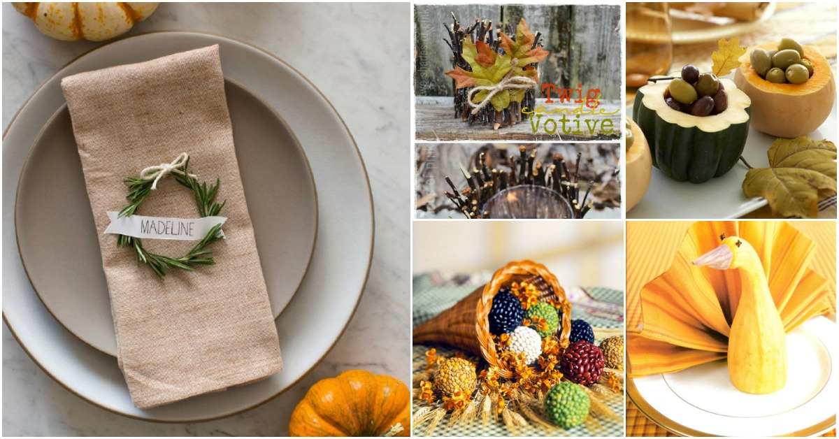 25 Easy To Make DIY Thanksgiving Decorating Ideas amp Crafts