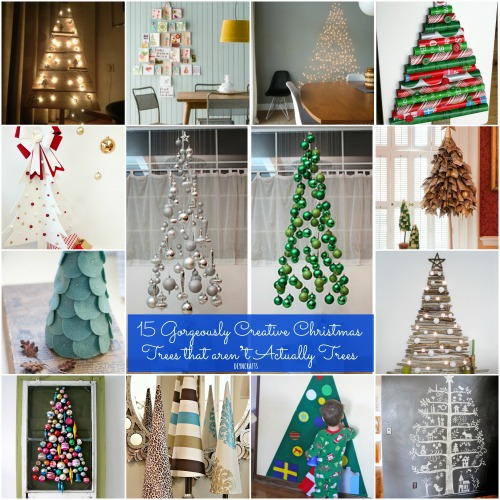 15 Non Traditional Christmas Tree Ideas: 15 Gorgeously Creative Christmas Trees That Aren't