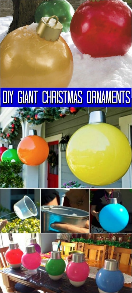 How To Make Your Own Giant Christmas Ornaments Diy Amp Crafts