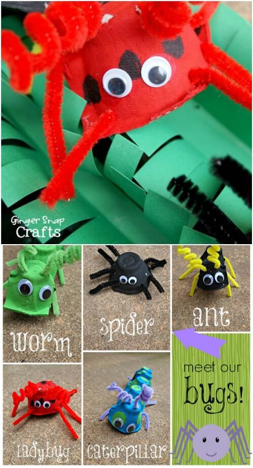 Adorable Egg Carton Bugs