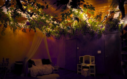 Dreamy enchanted forrest girl bedroom project.