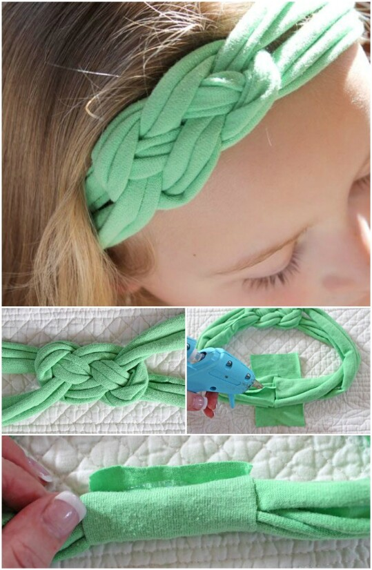 18. Turn an Old T-Shirt Into An Old Headband