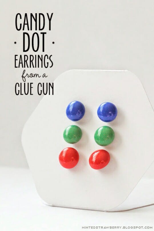 23. Make Simple Candy Dot Earrings