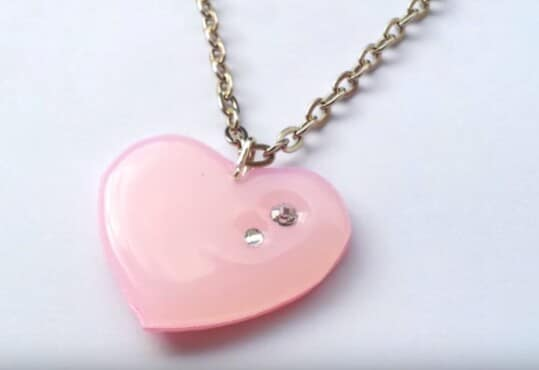 24. Try this Simple Heart Pendant