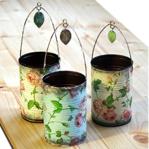 50 jaw dropping ideas for upcycling tin cans into for Large tin can crafts