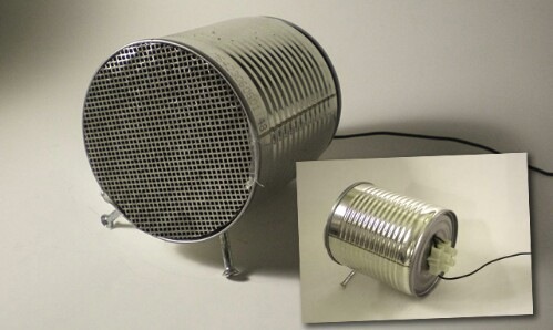 Real Working Speakers Made Out of Old Tin Cans