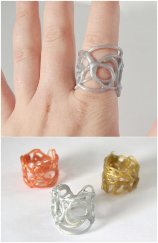 28. Hot Glue Rings will Impress and Delight!