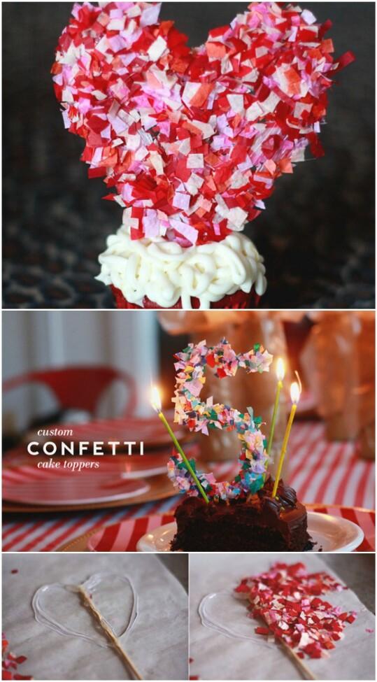 29. Make a Confetti Cake Topper