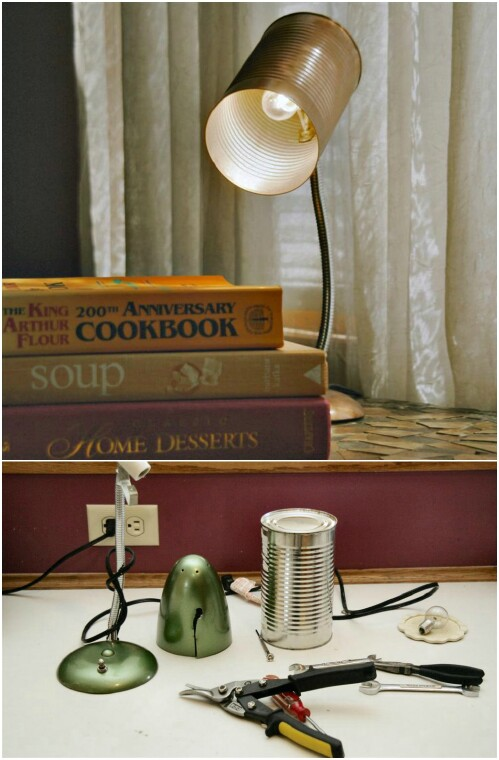 Real Working Tin Can Desk Lamp