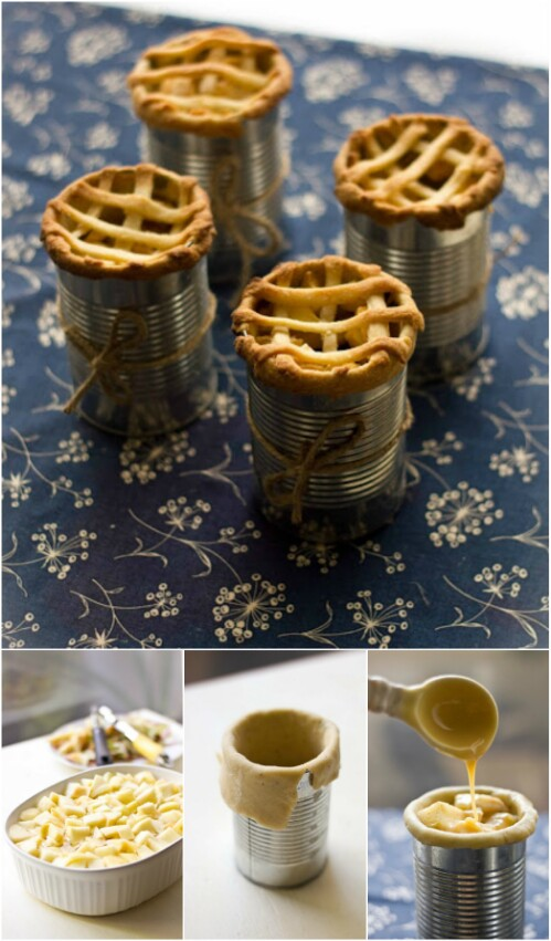 Make a Mini Apple Pie in a Tin Can