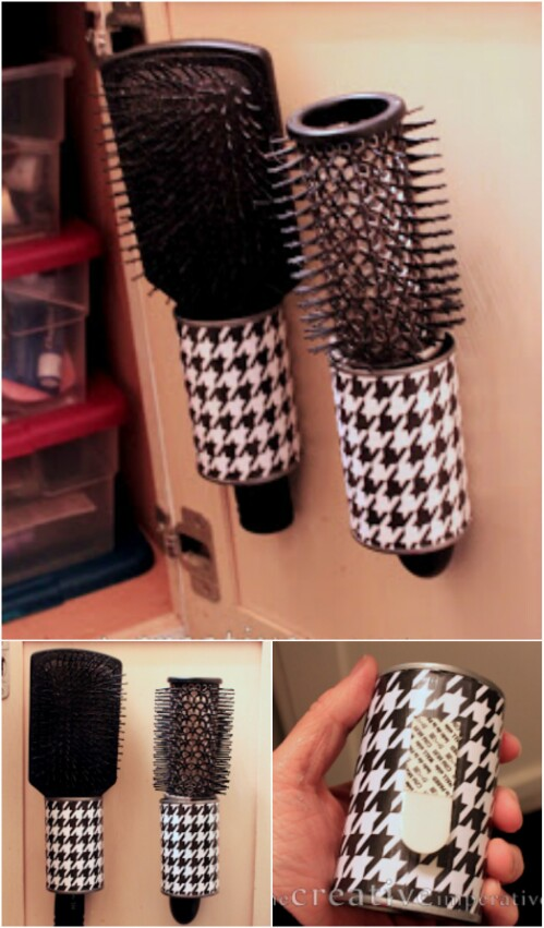 Hanging Hairbrush Storage