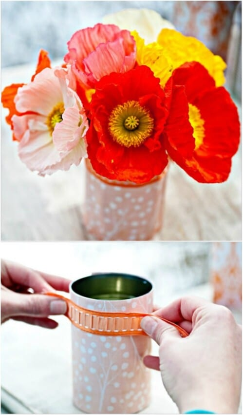 Make DIY Floral Container Covers for Tin Cans