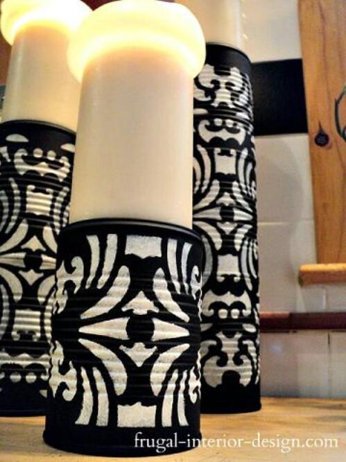 Make Tin Can Pedestals for Candles