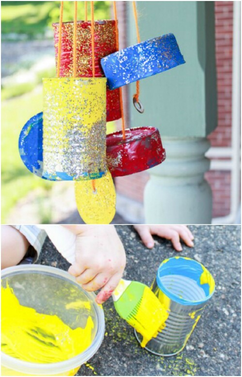 Tin Can Wind Chime Project for Kids